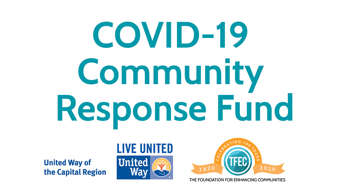 TFEC and United Way of Capital Region Announce Fund to Support COVID-19 Community Needs