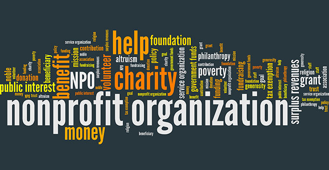 Non-profit organization - word cloud illustration